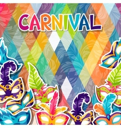 Celebration festive background with carnival masks vector image
