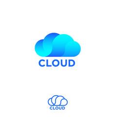 cloud computing logo info emblems vector image
