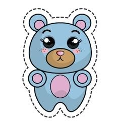 cute bear kawaii character vector image vector image