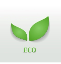 Eco friendly background vector image vector image