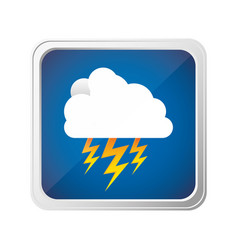 emblem cloud ray icon vector image vector image