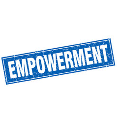 Empowerment square stamp vector