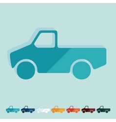 Flat design car pickup vector image vector image