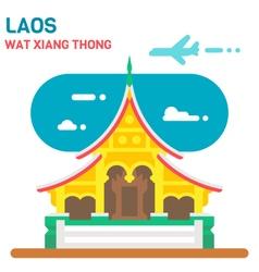 Flat design Wat Xiang Thong vector image