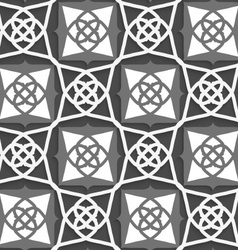 Geometrical Arabian ornament with white and grays vector image vector image