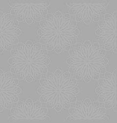Gray floral motif pattern vector