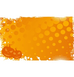 Grunge halloween background with pumpkins vector image