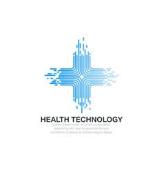 health technology logo template vector image