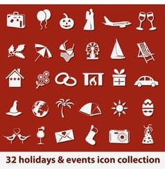 Holidays and events icons vector