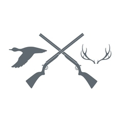 Hunt club icon vector