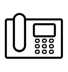 intercom telephone line icon vector image vector image