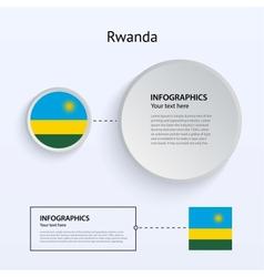 Rwanda Country Set of Banners vector image
