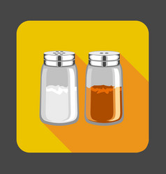 salt pepper concept background cartoon style vector image
