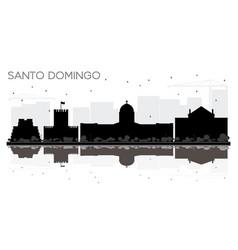 Santo domingo dominican republic city skyline vector