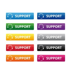 Support buttons vector image vector image