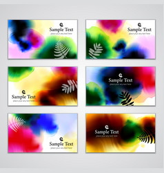 Visiting cards vector