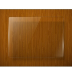 Wooden texture with glass framework eps10 vector image