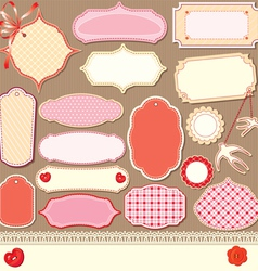vintage design elements - different labels vector image