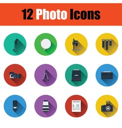 Photography icon set vector