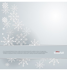Snowfall background vector