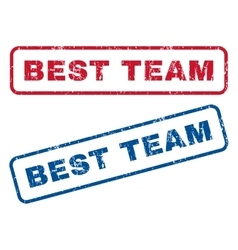 Best team rubber stamps vector