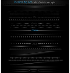 Big collection of web dividers for web vector image