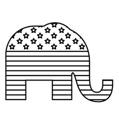 Isolated elephant of vote design vector