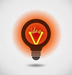 Glowing idea bulb icon concept vector image