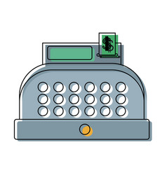 Cash register equipment for the shop vector