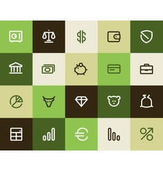 Bank and finance icons flat vector
