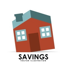 Savings house vector