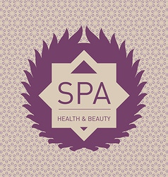 Logo for spa cosmetics health and beauty lifestyle vector