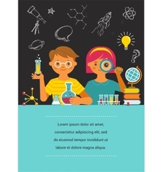 Young scientist - education research and school vector