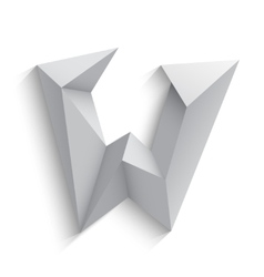 3d letter w on white vector