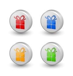 Gift icons vector