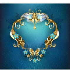 Banner with gold butterflies vector