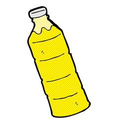 Comic cartoon orange juice bottle vector