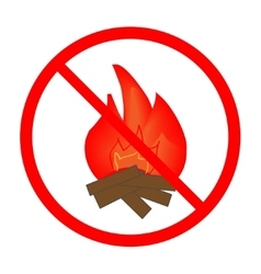 No fire sign in red ring vector