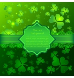 Green Saint Patricks Day greeting card vector image