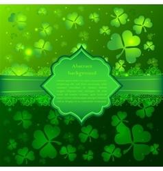 Green saint patricks day greeting card vector