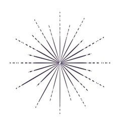 Sunburst in black and white colors design vector