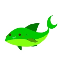 Cartoon shark flat mascot icon vector