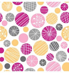 Abstract textured bubbles seamless pattern vector image