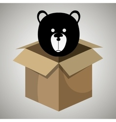 Box bear toy vector
