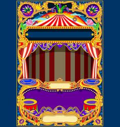 Circus wallpaper frame vector