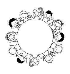 cute children vector image