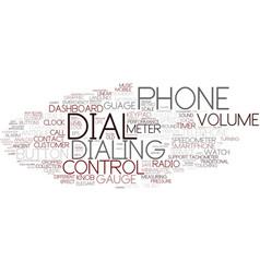 Dial word cloud concept vector