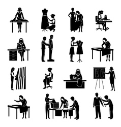 Dressmaker icons set vector