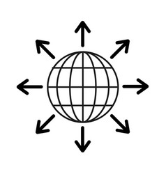 Figure global internet digital service connect vector