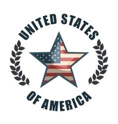 flag united states america design vector image
